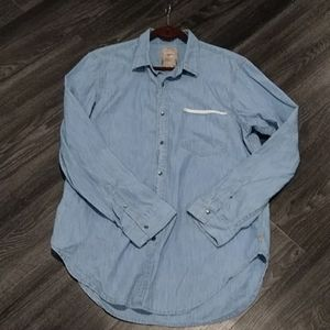 Men's Guess denim button down